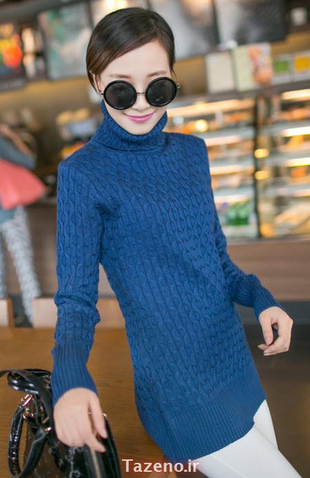 لباس بافتنی , تونیک بافتنی دخترانه , مدل تونیک بافتنی 2015 , لباس بافتنی کره ایی جدید