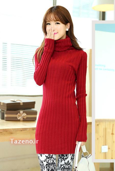 لباس بافتنی , لباس بافتنی دخترانه , مدل لباس بافتنی 2015 , لباس بافتنی کره ایی جدید