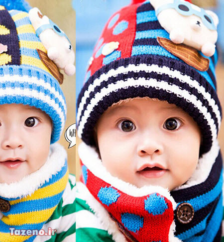 کلاه بافتنی بچه گانه , کلاه بافتنی بچه گانه 2015 , مدل کلاه بافتنی بچه گانه