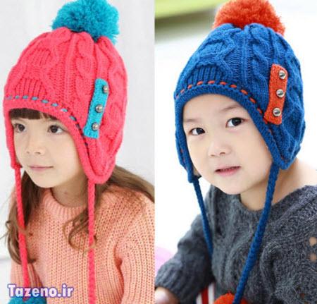 کلاه بافتنی بچه گانه , مدل کلاه بافتنی بچه گانه, کلاه بافتنی بچه گانه 2015
