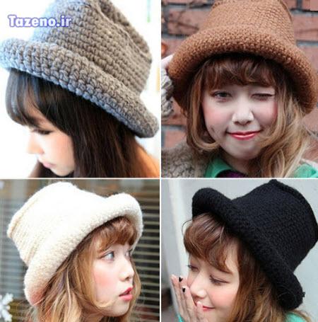 کلاه بافتنی , مدل کلاه بافتنی , کلاه بافتنی 2015 , مدل کلاه بافتنی دخترانه